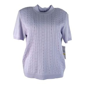 Alfred Dunner Womens Sweater Size M Medium Purple